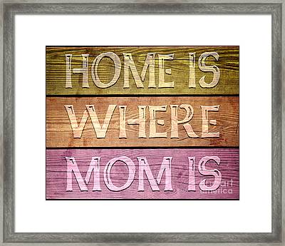 Home Is Where Mom Is Framed Print