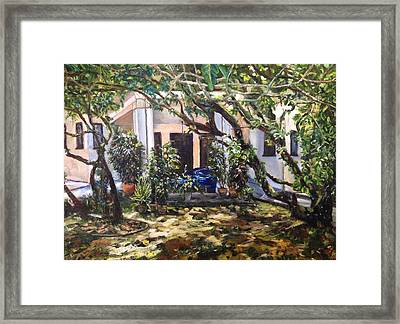 Home Is Where The Heart Is Framed Print by Belinda Low