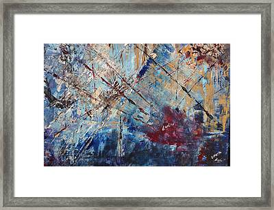 Framed Print featuring the painting Home Is Where The Heart Is by Lucy Matta