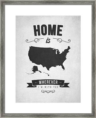Home Is Wherever I'm With You Usa - Gray Framed Print