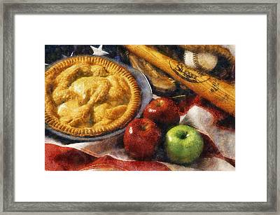 Home Made Apple Pie Framed Print by Ian Mitchell