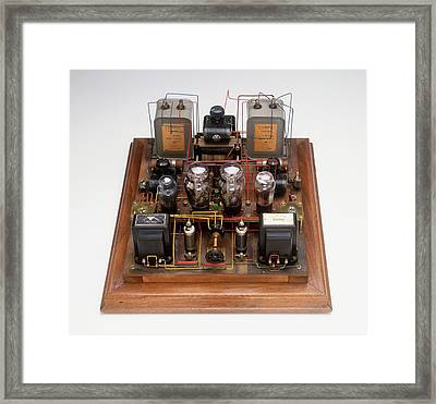 Home-made Radio Amplifier Framed Print