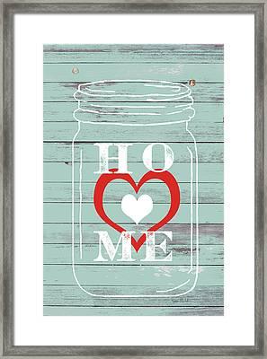 Home Mason Jar Framed Print