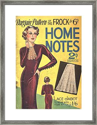 Home Notes 1940s Uk Women At War Womens Framed Print by The Advertising Archives