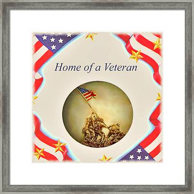 Home Of A Veteran Framed Print by Charles Ott