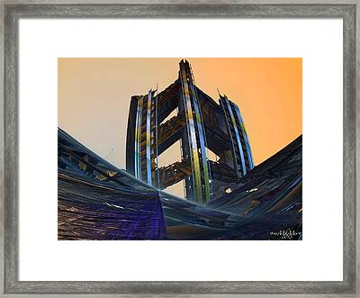 Framed Print featuring the digital art Home Of Brave  by Melissa Messick