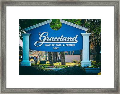 Home Of Elvis Framed Print by Mountain Dreams