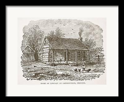 Rural Indiana Drawings Framed Prints