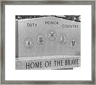 Home Of The Brave Framed Print by Heather Allen