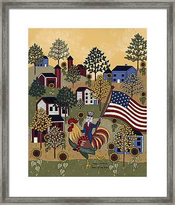 Home Of The Brave Framed Print by Medana Gabbard
