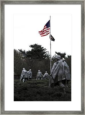 Home Of The Brave Framed Print by Mitch Cat