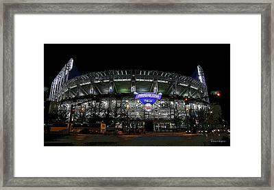 Home Of The Cleveland Indians Framed Print by Terri Harper