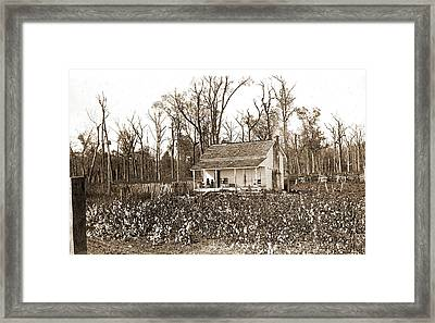 Home Of The Cotton Picker, Jackson, William Henry Framed Print by Litz Collection