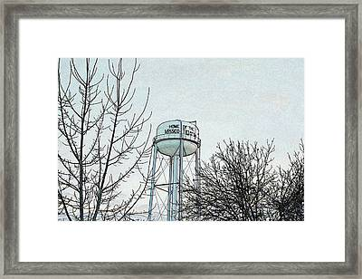 Home Of The Missco Tigers- Colored Pencil Effect Framed Print by KayeCee Spain