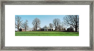 Home Of Thomas Jefferson, Monticello Framed Print by Panoramic Images