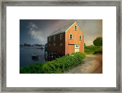 Home On Cape Porpoise Framed Print by Diana Angstadt