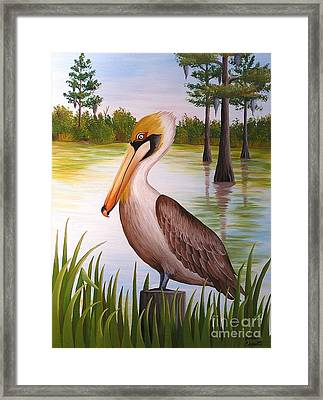 Home On The Bayou  Framed Print