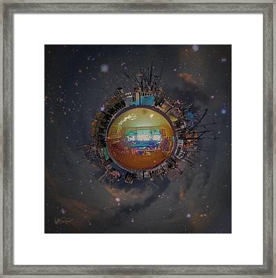 Home Planet Framed Print