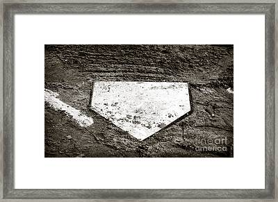 Home Plate Framed Print