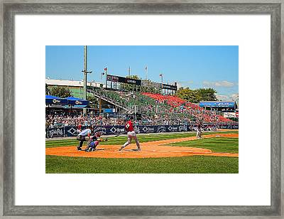 Home Run Or Struck Out Framed Print by Michael Porchik