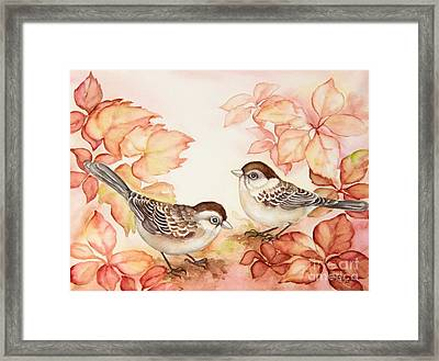 Home Sparrows Framed Print