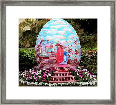 Home Sweet Egg Framed Print