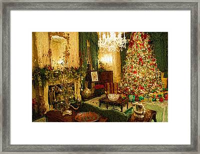 Home Sweet Home At Christmas Framed Print