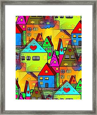 Home Sweet Home By Nico Bielow Framed Print