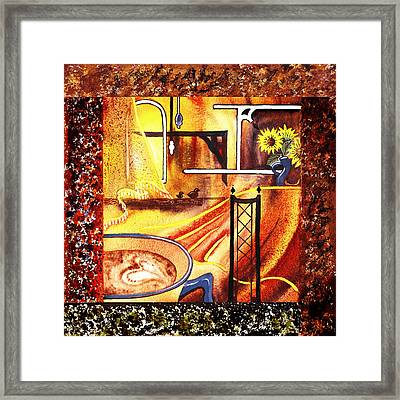 Home Sweet Home Decorative Design Welcoming Three  Framed Print by Irina Sztukowski
