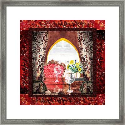 Home Sweet Home Decorative Design Welcoming Two Framed Print by Irina Sztukowski