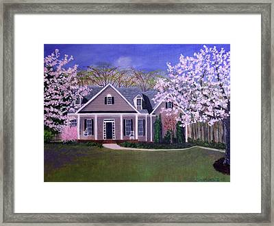 Framed Print featuring the painting Home Sweet Home by Janet Greer Sammons