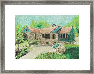 Framed Print featuring the painting Home Sweet Home by Jeanne Fischer