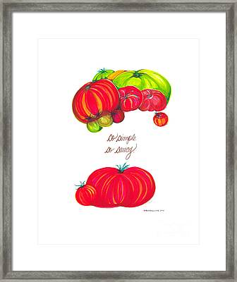 Home Sweet Home Jessica Simple And Saucy Framed Print by Andrea Cook