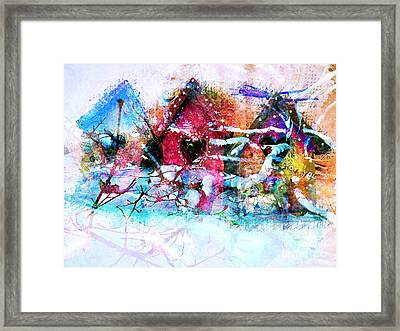 Home Through All Seasons Framed Print