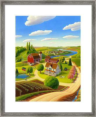 Home To Harmony Framed Print by Robin Moline