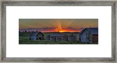 Home Town Sunset Panorama Framed Print