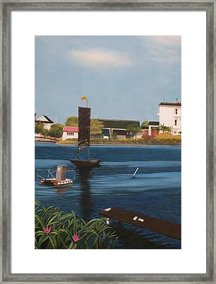 Framed Print featuring the painting Home Town by Susan Roberts