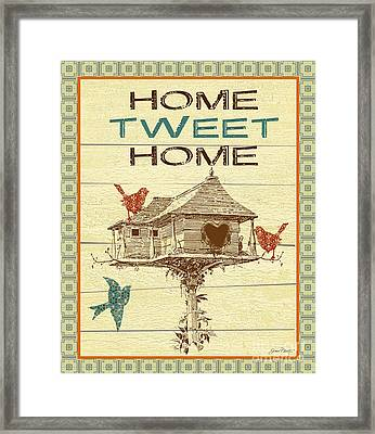 Home Tweet Home Framed Print by Jean Plout
