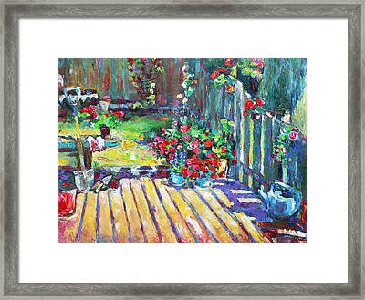 Home Where True Beauty Is Planted Framed Print by Becky Kim