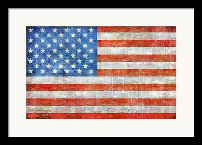U S Flag Framed Prints