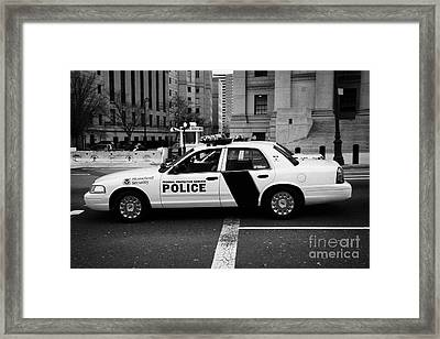 Homeland Security Federal Protective Service White Police Car Outside Courthouse New York City Framed Print