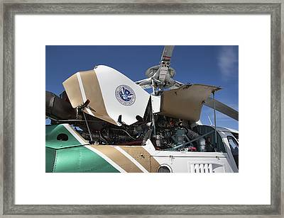 Homeland Security Hi-performance Helicopter Framed Print by Daniel Hagerman