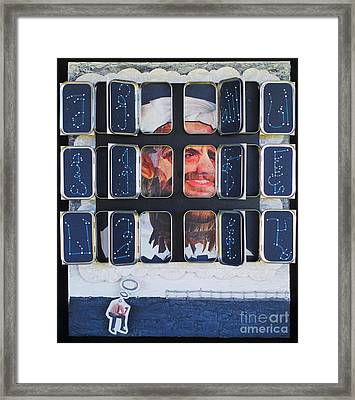 Homeland Security Phase 2 The Face Of Terror Full-blown Framed Print by Mack Galixtar