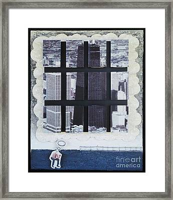 Homeland Security Phase 2 The Face Of Terror Framed Print by Mack Galixtar