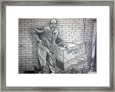 Homeless Bill Framed Print by Dennis Nadeau