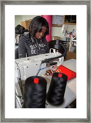 Homeless Clothing Program Framed Print