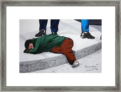 Homeless Framed Print by Dennis Nadeau