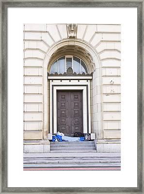 Homeless Person Framed Print by Tom Gowanlock