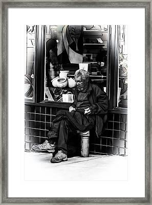 Homelessness Framed Print by John Haldane