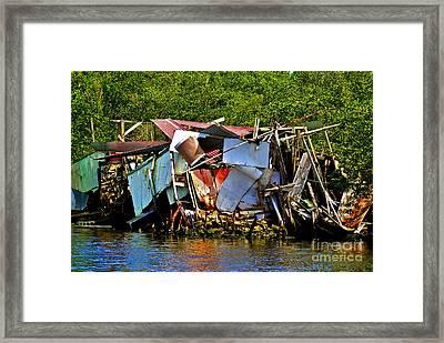 Homemade Boat House Framed Print